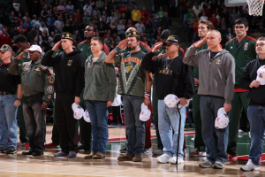 Veterans on floor for anthem 11-7-12