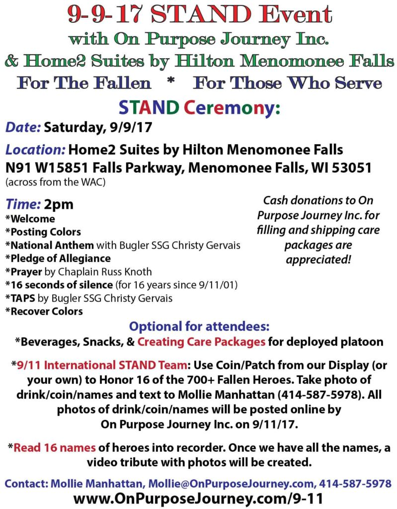 9/9/17 STAND Care Package & Appreciation Event