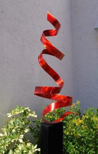 red-twist-sculpture